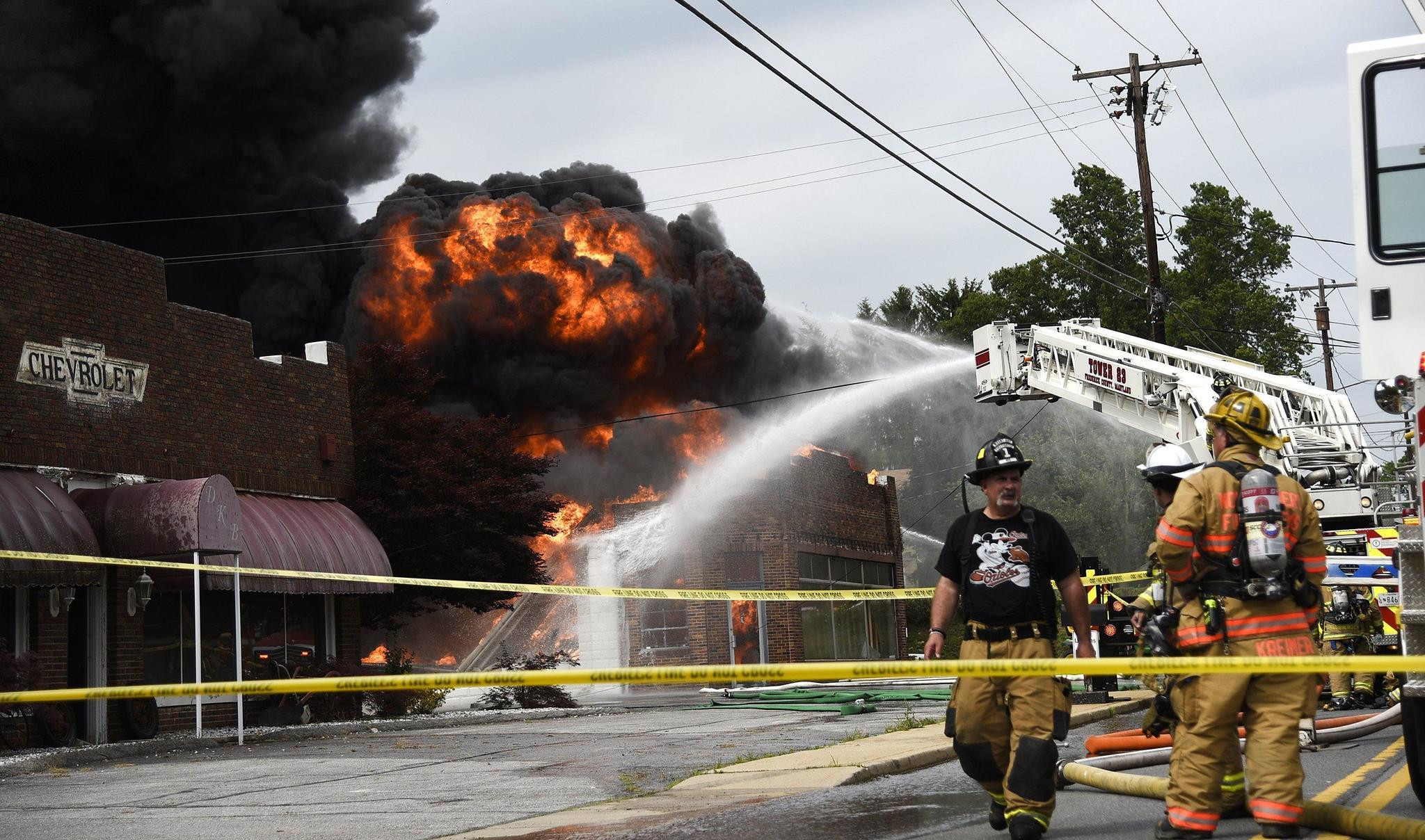 Cause of mount airy fire under investigation howard for Mont airy