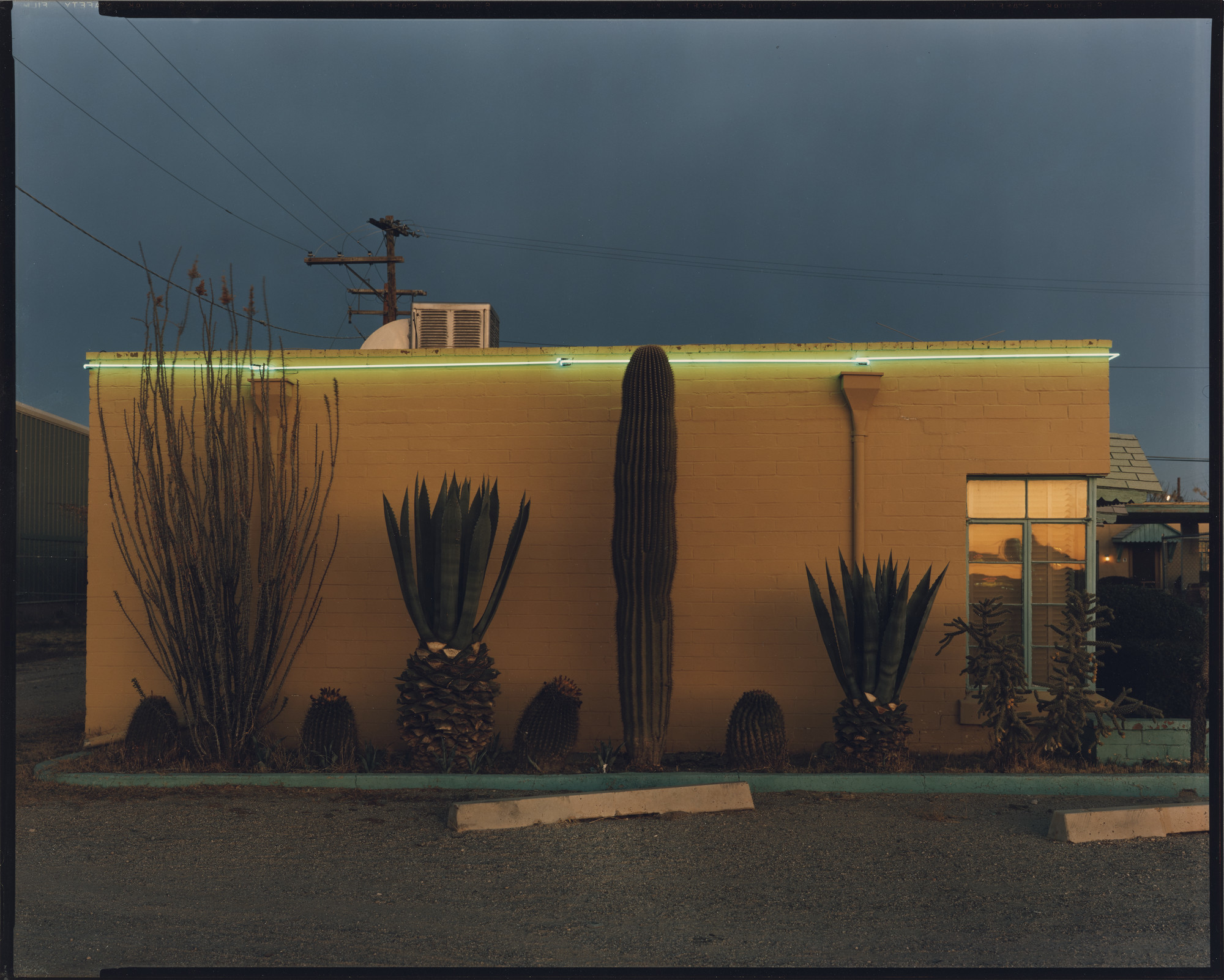 "Steve Fitch's ""Greyhound Park Motel, Tucson, Arizona, 12/30/80."""