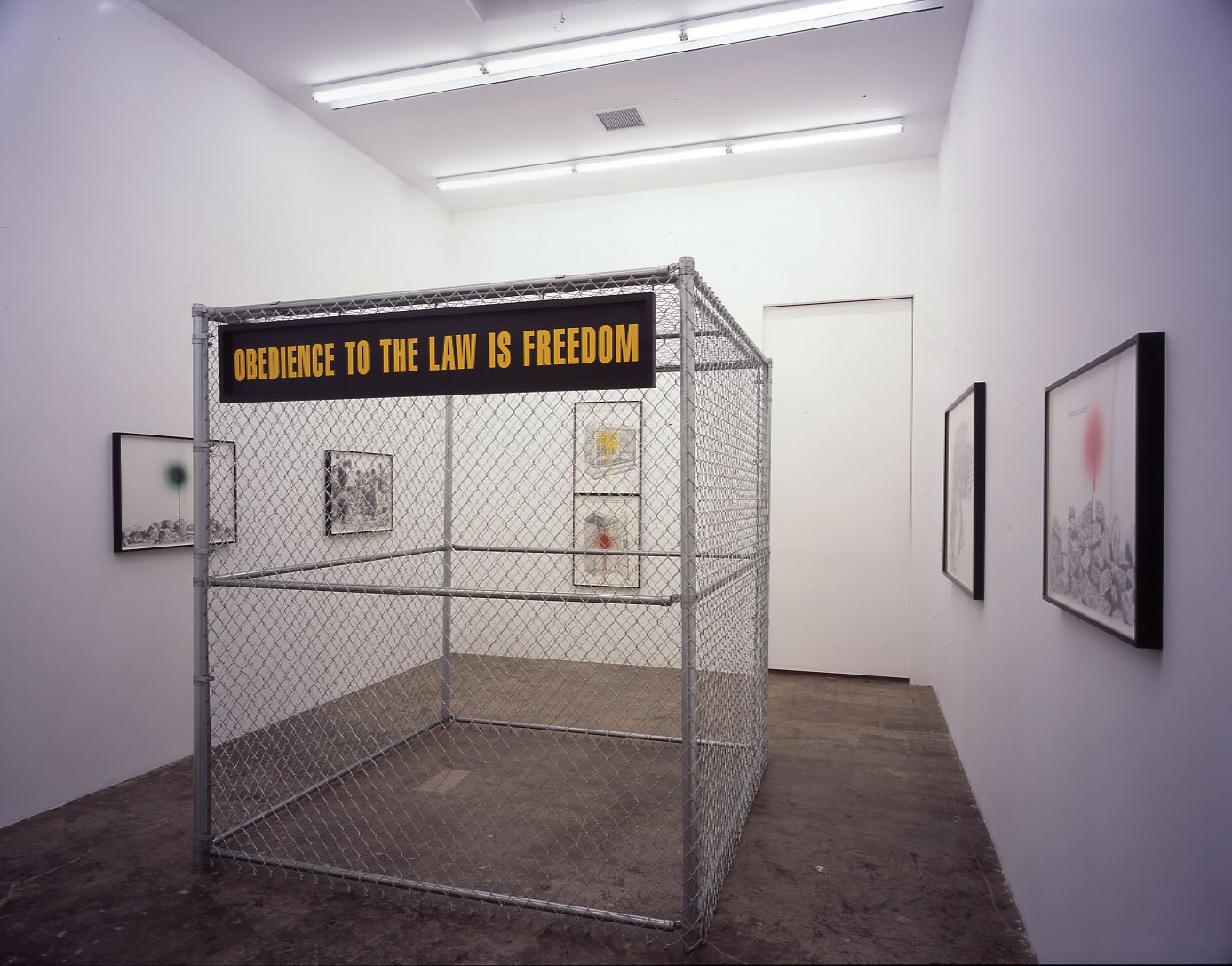 "Sam Durant's exhibition, ""Involved"" (2004), at Blum & Poe."