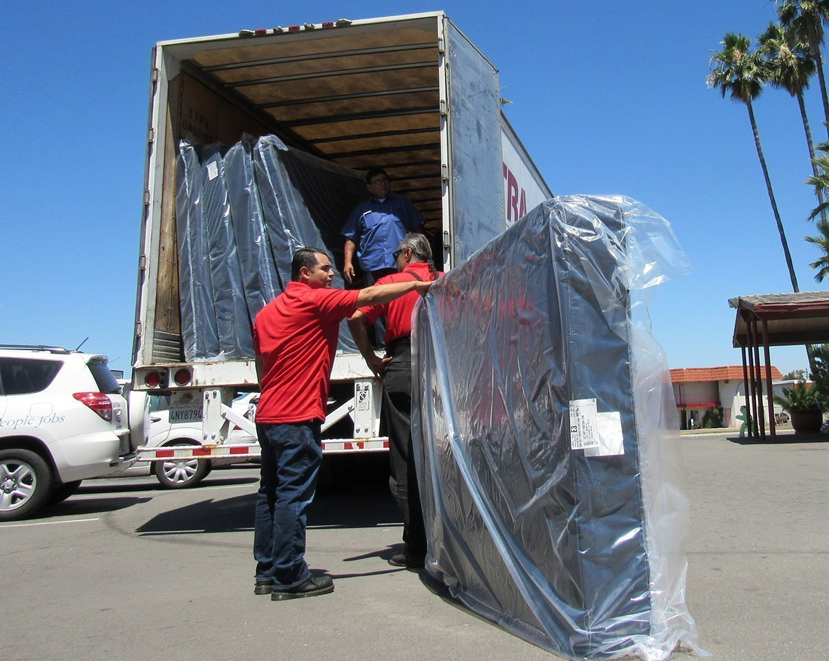 Jerome 39 s delivers dozens of mattresses to homeless shelter Jerome s el cajon
