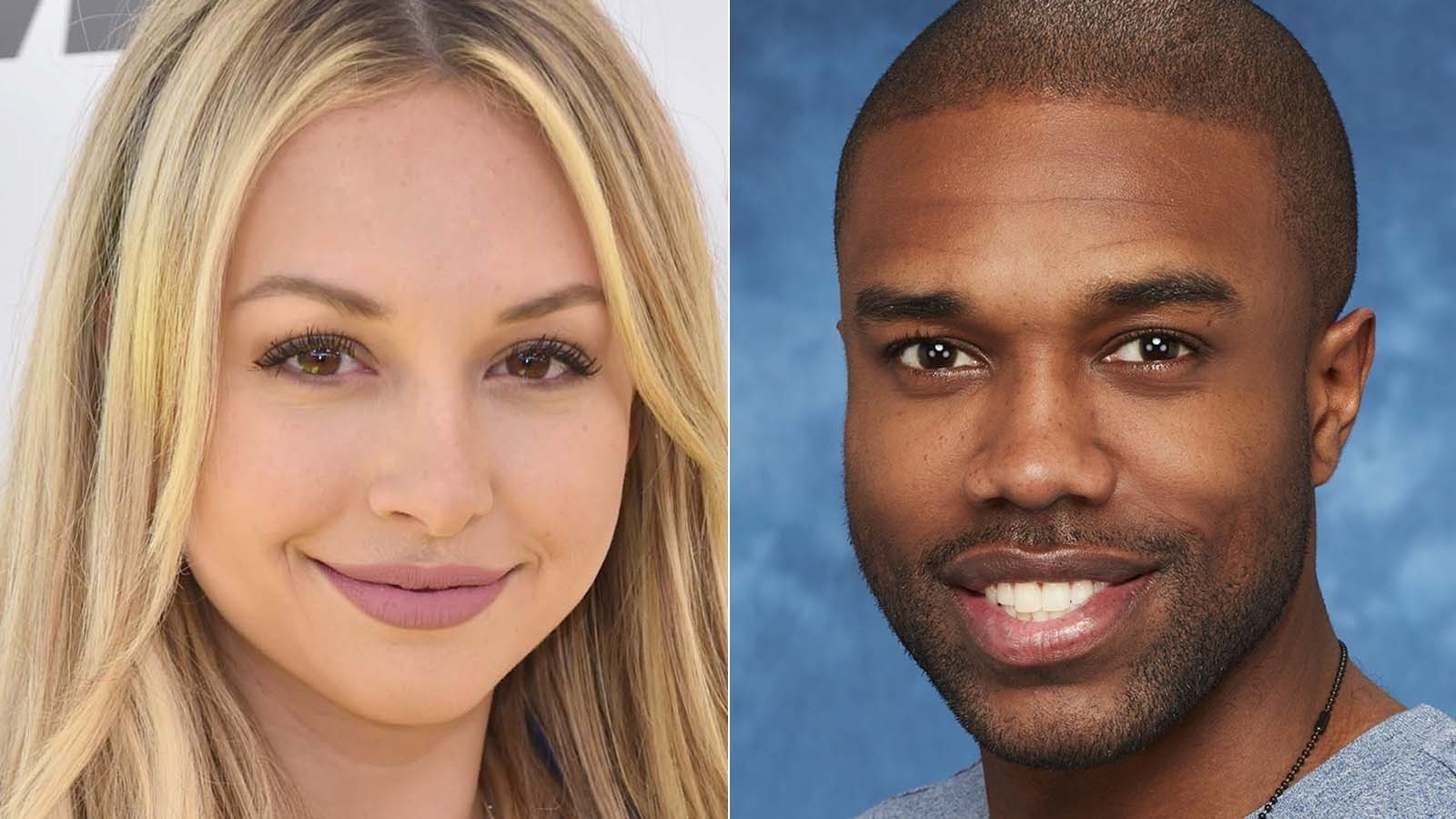 Corinne Olympios and DeMario Jackson. (Frazer Harrison / Getty Images, left; Craig Sjodin / ABC)