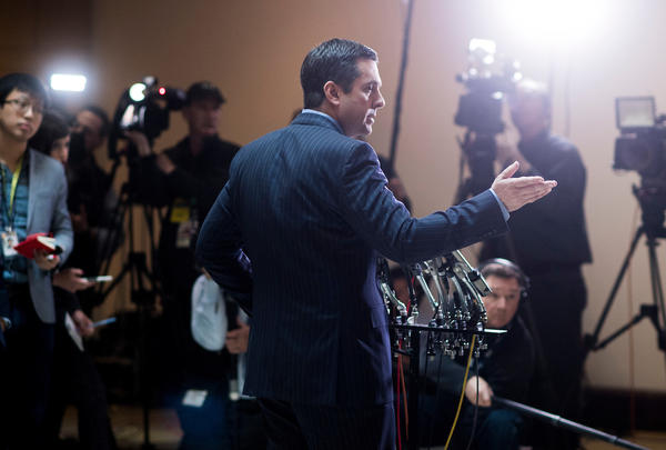 House Intelligence Committee Chairman Rep. Devin Nunes (R-Tulare) holds a news conference in the Capitol on March 22, 2017. (Bill Clark/CQ Roll Call)