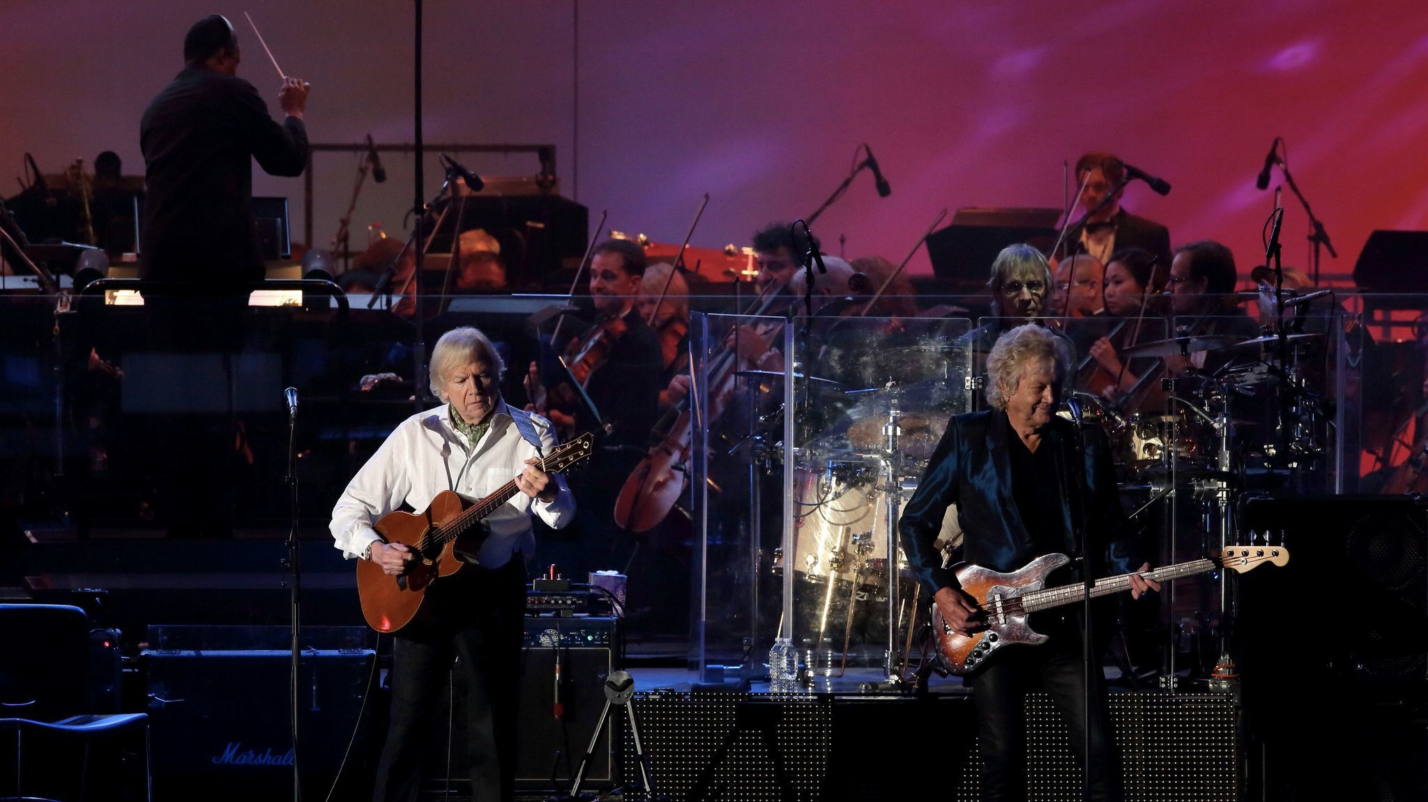 "The Moody Blues are on hand at the Hollywood Bowl, celebrating the 50th anniversary of the rock band's groundbreaking album, ""Days of Future Passed."""