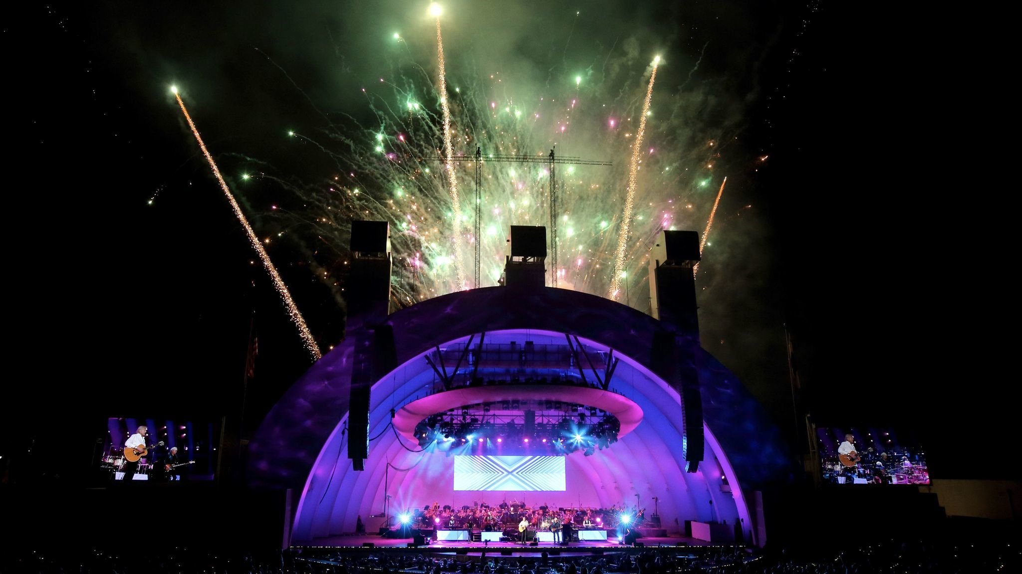 Opening night at the Hollywood Bowl offers the sounds of the Moody Blues and the Hollywood Bowl Orchestra, a fireworks display and more.