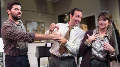 """Alex Alvarez reacts as John Manzelli points out the obvious to Patti Gardner in """"The Goldberg Variat"""