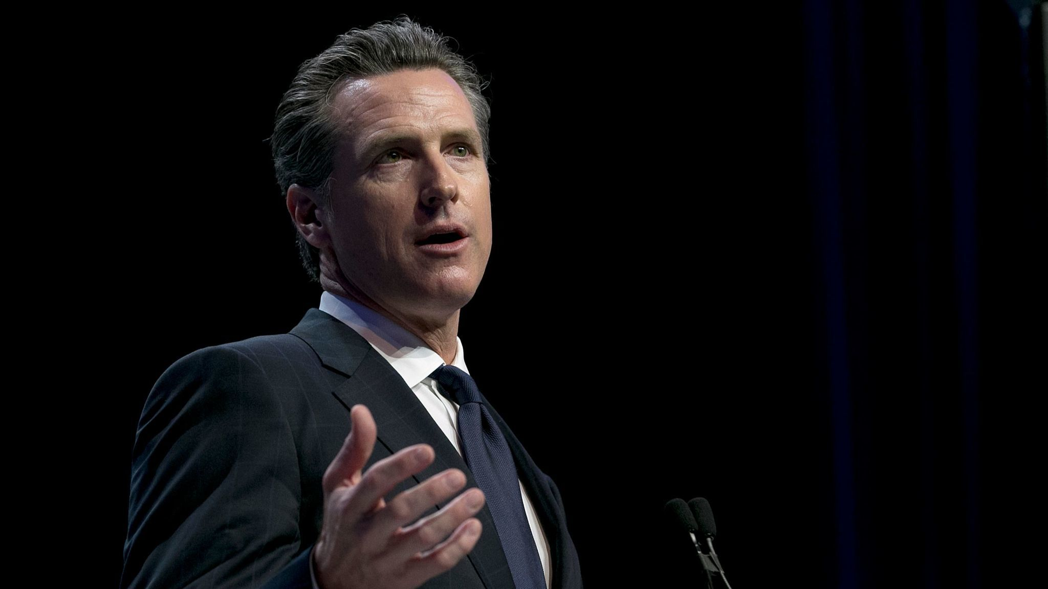 Lt. Gov. Gavin Newsom, a candidate for governor, has used his leadership of the State Lands Commission to promote his opposition to offshore oil drilling.