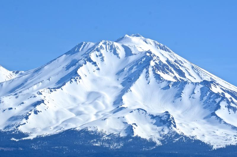 Mt. Shasta, seen from Castle Crags State Park. (Christopher Reynolds / Los Angeles Times)