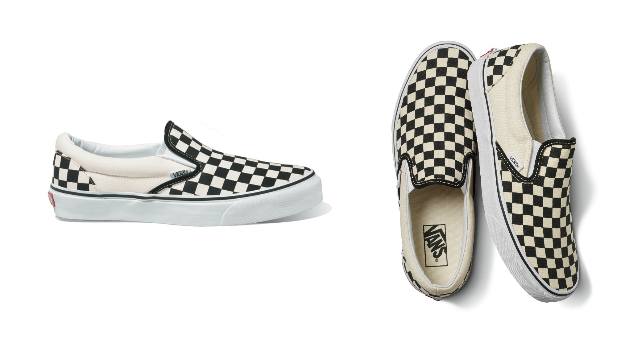 "First introduced in 1977, Vans' Checkerboard Slip-On, $50, became mainstream after appearing in the 1982 teen drama, ""Fast Times at Ridgemont High."""