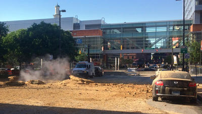 Steam pipe explosion in downtown Baltimore