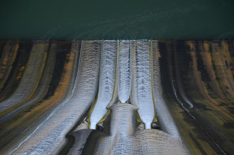 Shasta Dam from above. (Christopher Reynolds/Los Angeles Times)