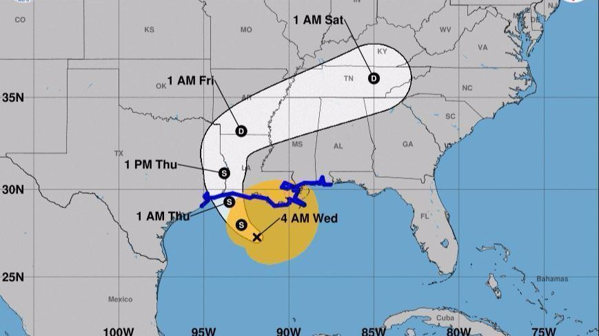 Tropical Storm Cindy nears Louisiana while Bret fizzles out