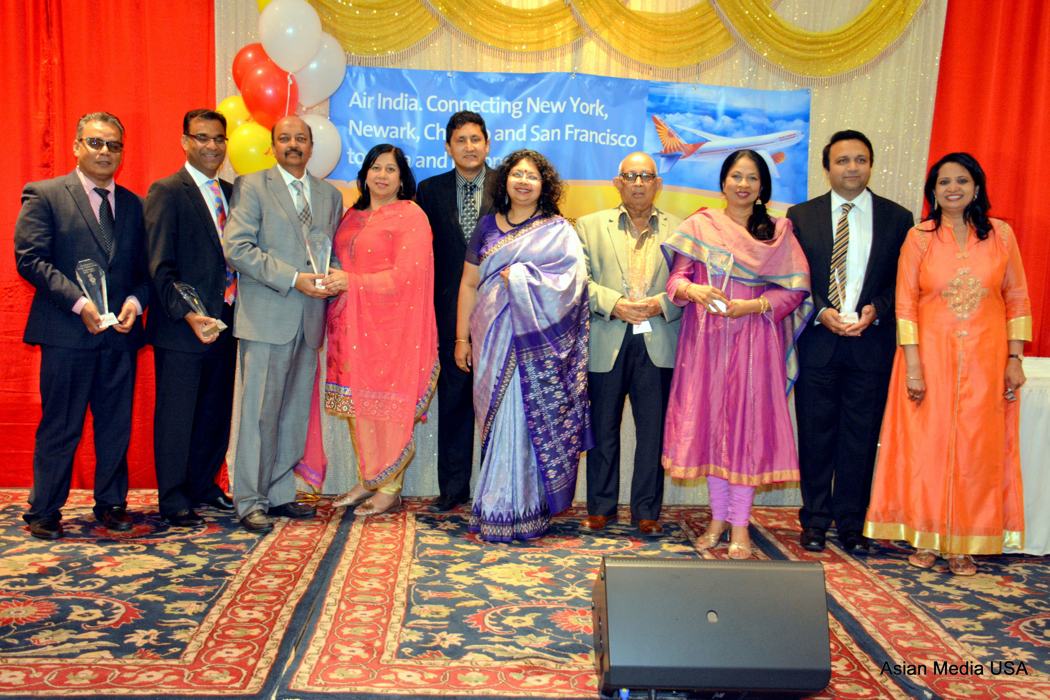 Air India hosted Awards night for Midwest Partners with Vandana Sharma, Regional Manager, Air India - Naperville Sun