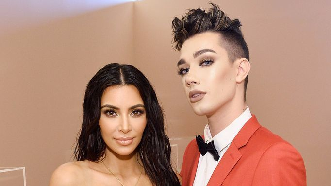 Kim Kardashian West and James Charles.