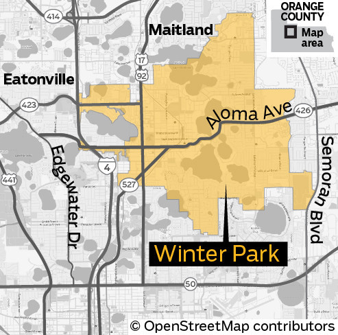 Winter Park Florida Map.Winter Park S Posh Reputation Makes It A Coveted Home Address
