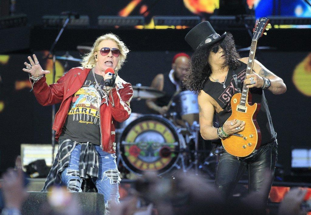 Guns N' Roses, including Axl Rose, left, and Slash, will get its own SiriusXM radio channel starting July 13. (Victor Lerena / European Pressphoto Agency)