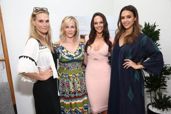 Molly Sims, Chelsea Handler, Jessica Alba toast Kelly LeVeque book launch