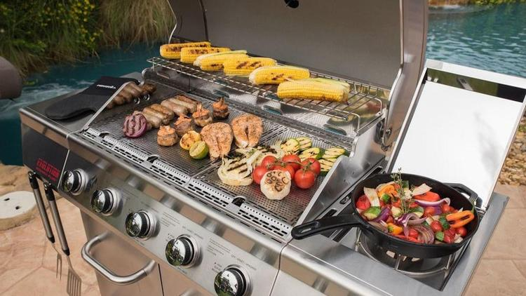 Even free-standing grills have been adding special features like infrared cooking.