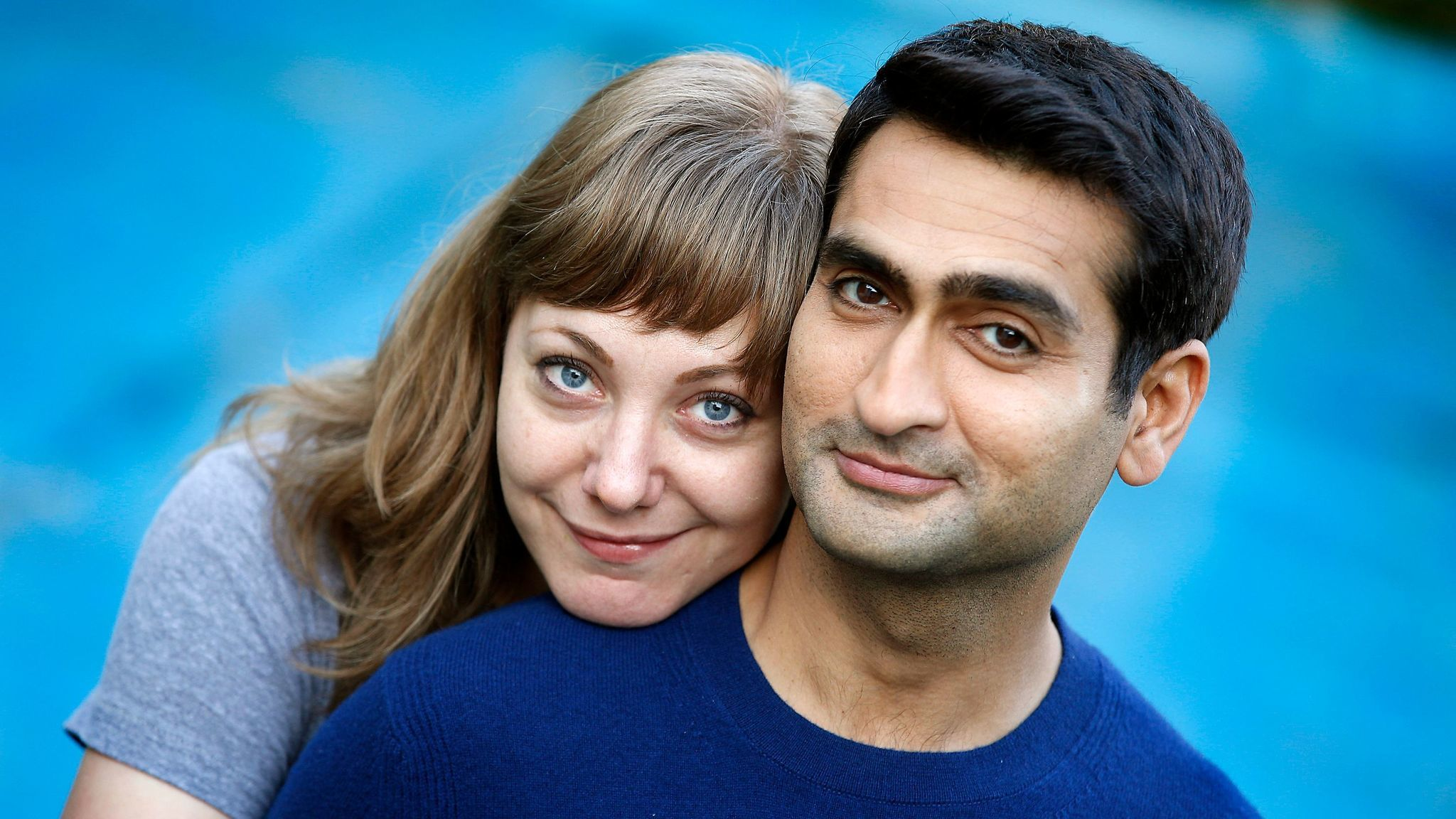 Kumail Nanjiani and Emily V. Gordon. (Kirk McKoy / Los Angeles Times)