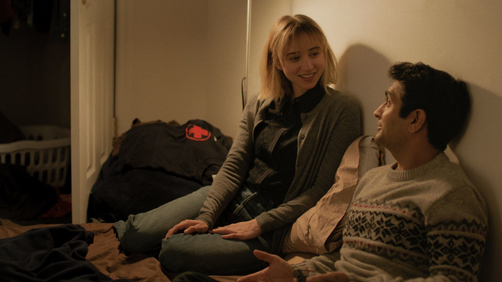"Zoe Kazan, left, starring with Kumail Nanjiani in ""The Big Sick."""