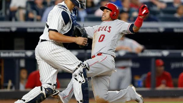 Angels score nine straight in 10-5 win over Yankees