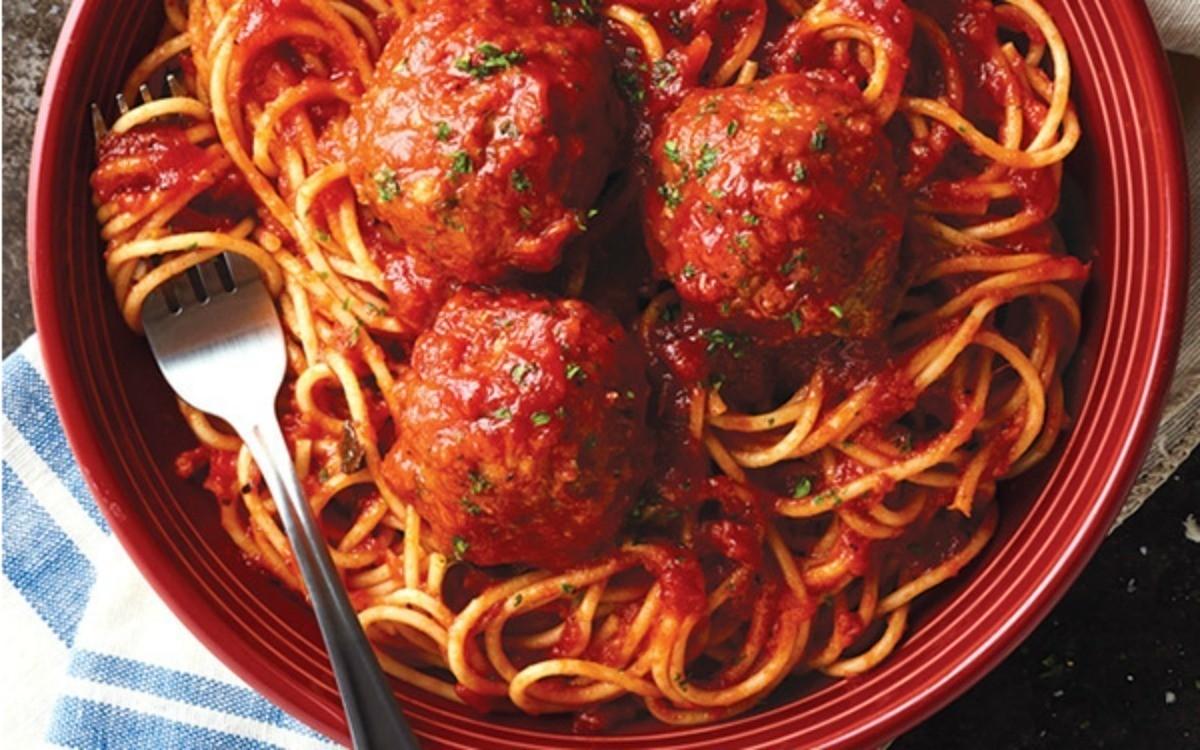 Free spaghetti and meatballs at Carrabba's Italian Grill