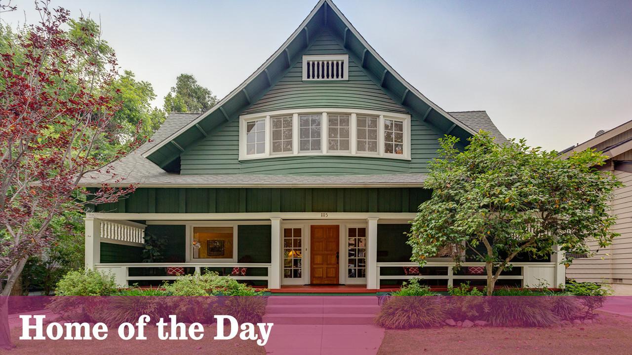 1906 craftsman makes a pointed statement in south pasadena for Pasadena craftsman homes