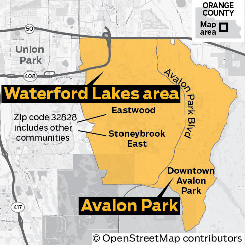 Orlando Florida Area Code Map.Waterford Lakes Avalon Park Sitting Pretty With Retail Schools