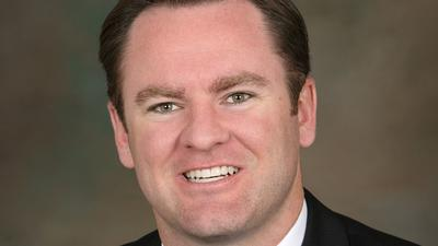 "Newport Beach Councilman Will O'Neill likens pensions to a ""devil's mortgage."""