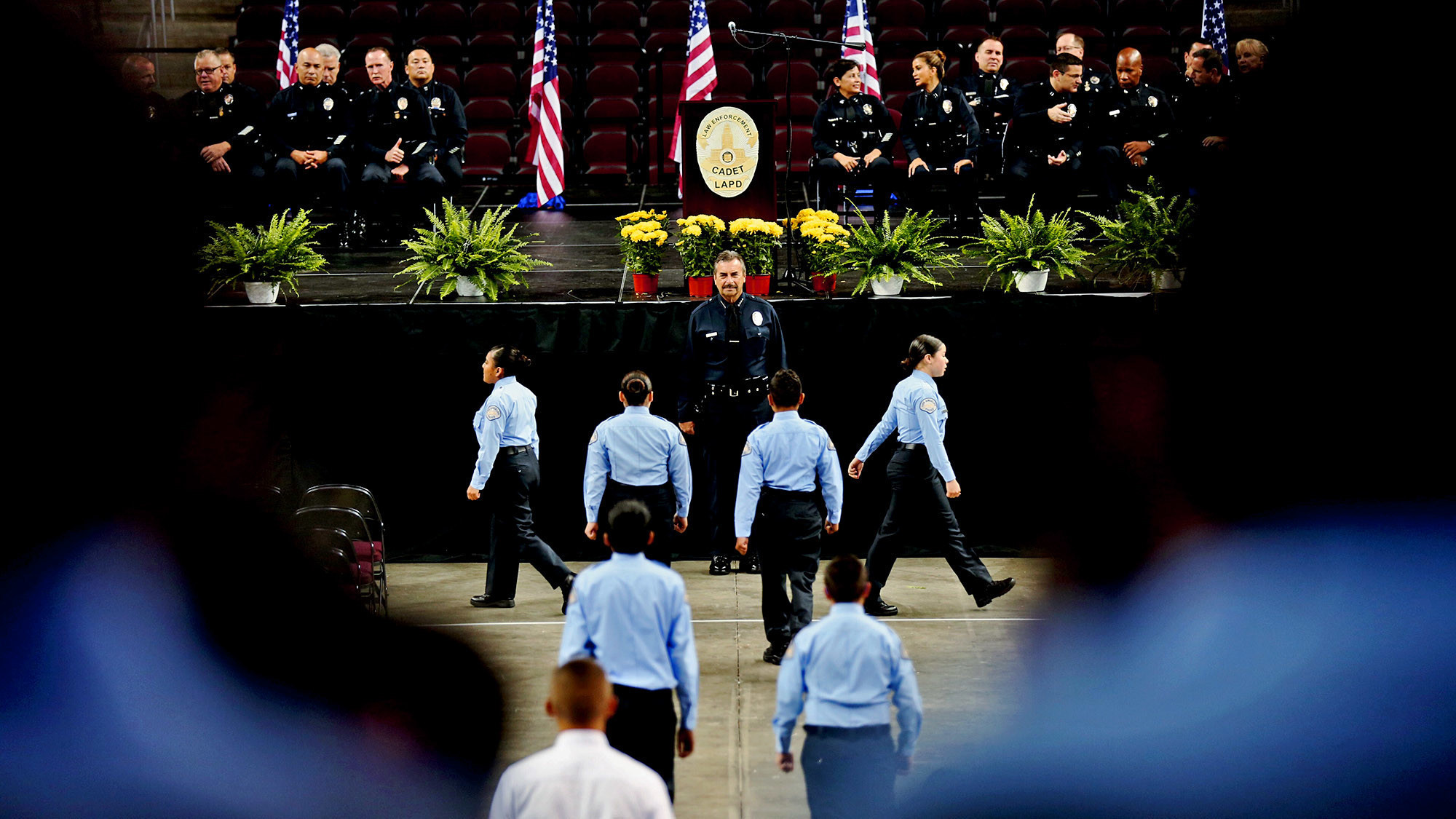 'Protect them like your own': At cadet graduation, LAPD Chief Beck defends program amid scandal