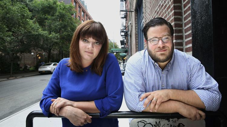 Amanda Litman and Ross Morales Rocketto launched the Democratic activist group Run For Something, which encourages people under 35 to seek elected office. (Carolyn Cole / Los Angeles Times)
