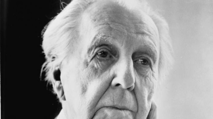 A 1954 portrait of Frank Lloyd Wright.