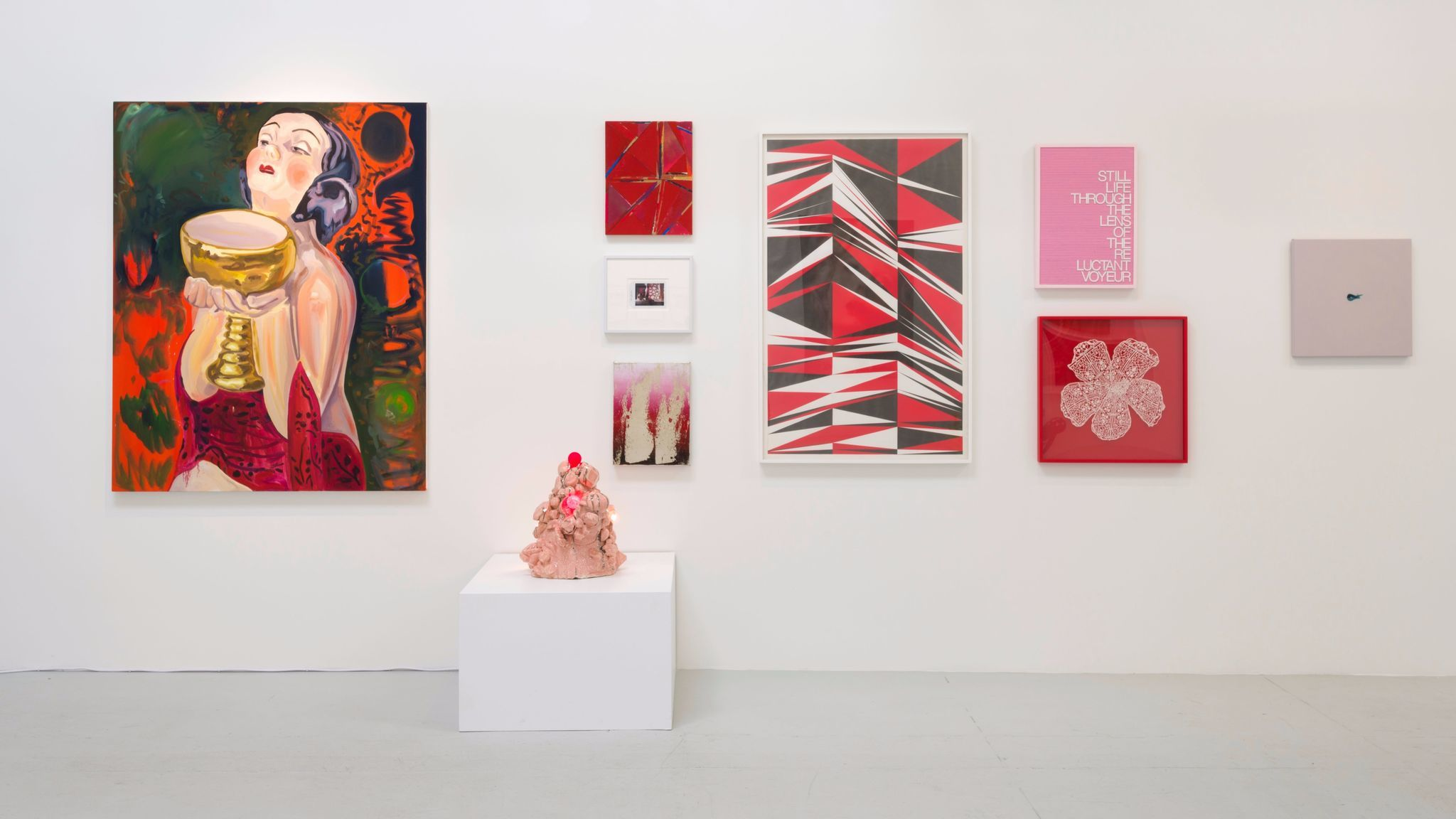 """Flaming June VII: Flaming Creatures"" installation view, Gavlak Los Angeles, courtesy of the artists and the gallery."