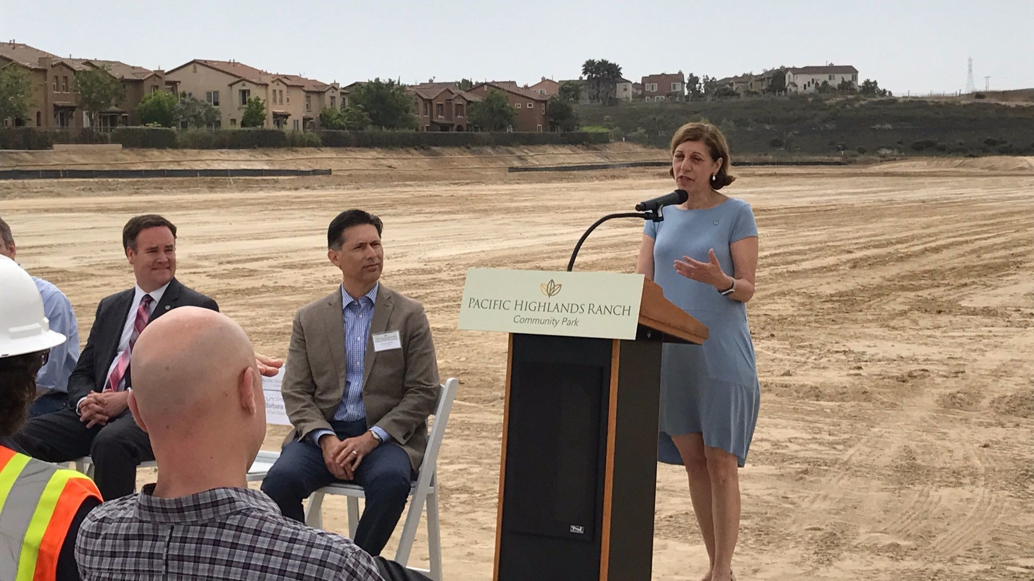 SD City Councilmember Barbara Bry speaks at the groundbreaking.