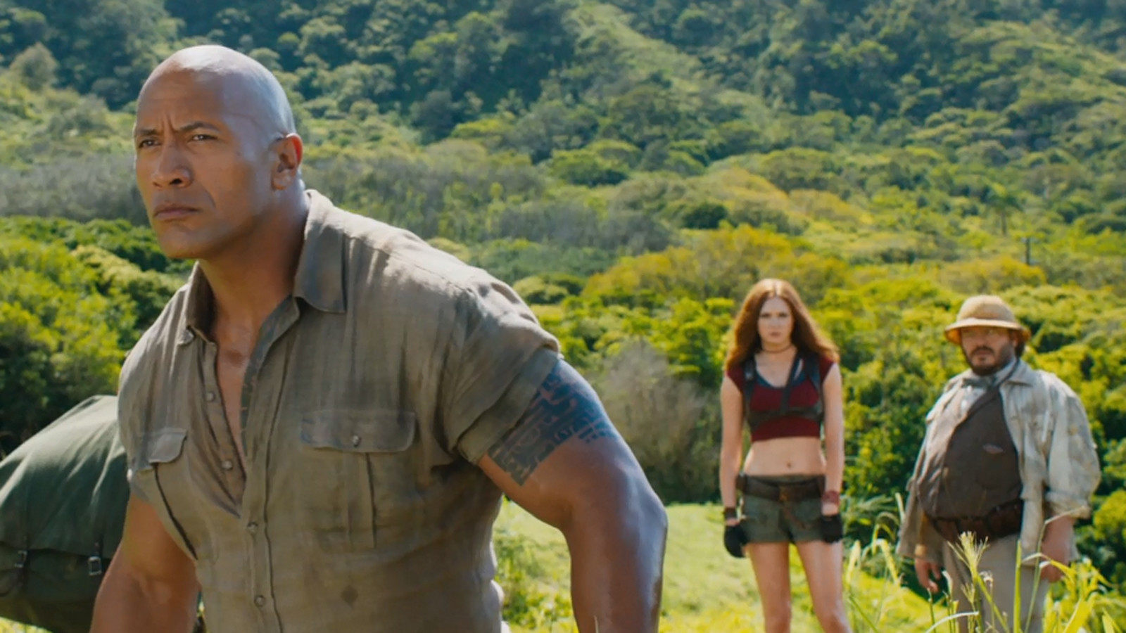 'Jumanji' trailer turns Dwayne Johnson, Kevin Hart into video game avatars