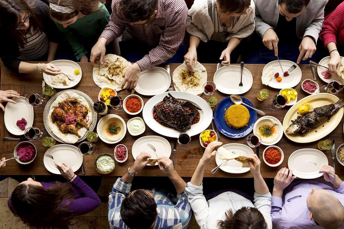 The Mesibah meal at Zahav.