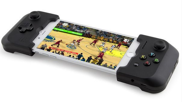 Gamevice sells a $99 gaming controller add-on for iPhones that plugs into the Lightning port.