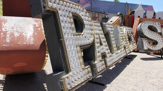 Signage recently removed from the Palace Station hotel-casino has been moved to the Neon Museum as p