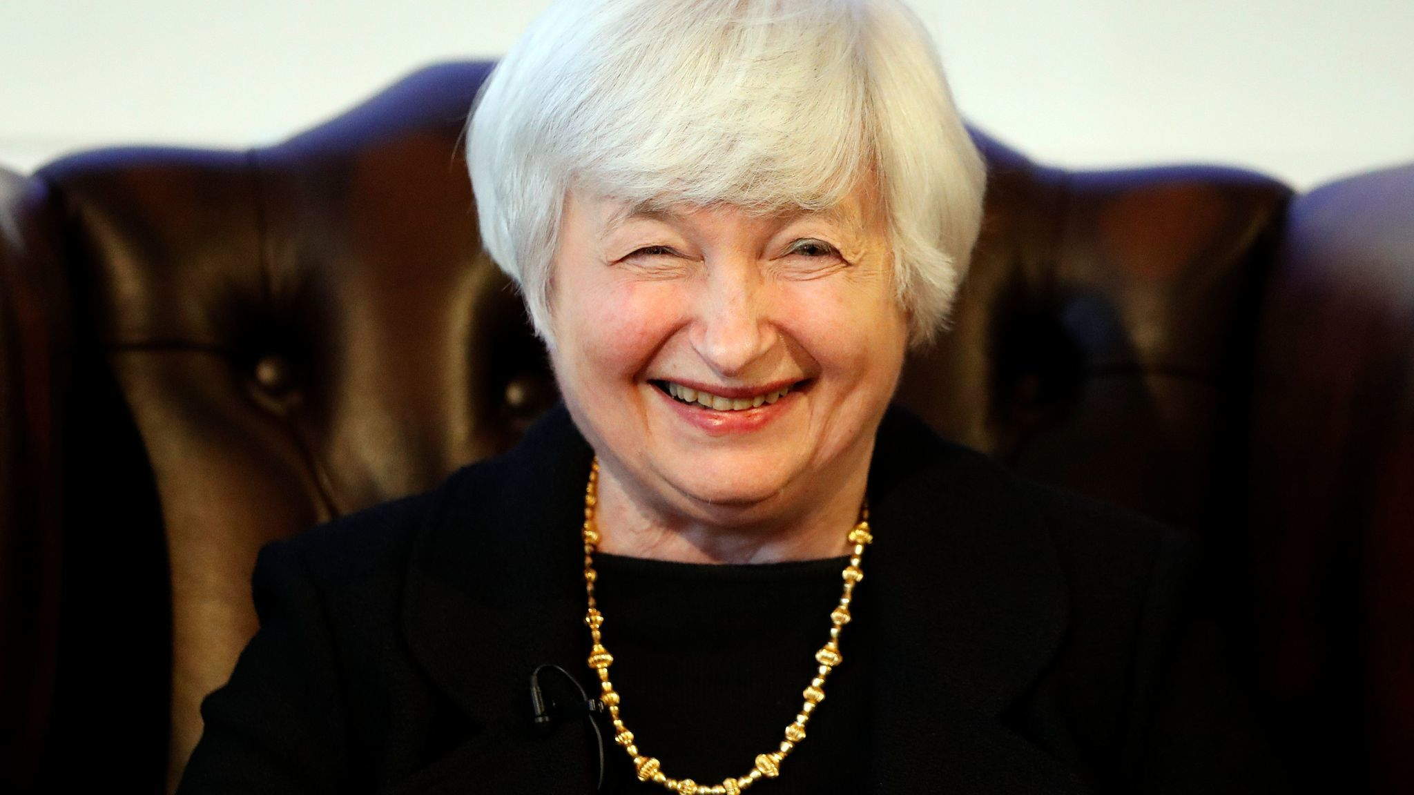 U.S. Fed Chairwoman Janet Yellen speaks during a discussion at Carlton House Terrace of the Britsih Academy in London.