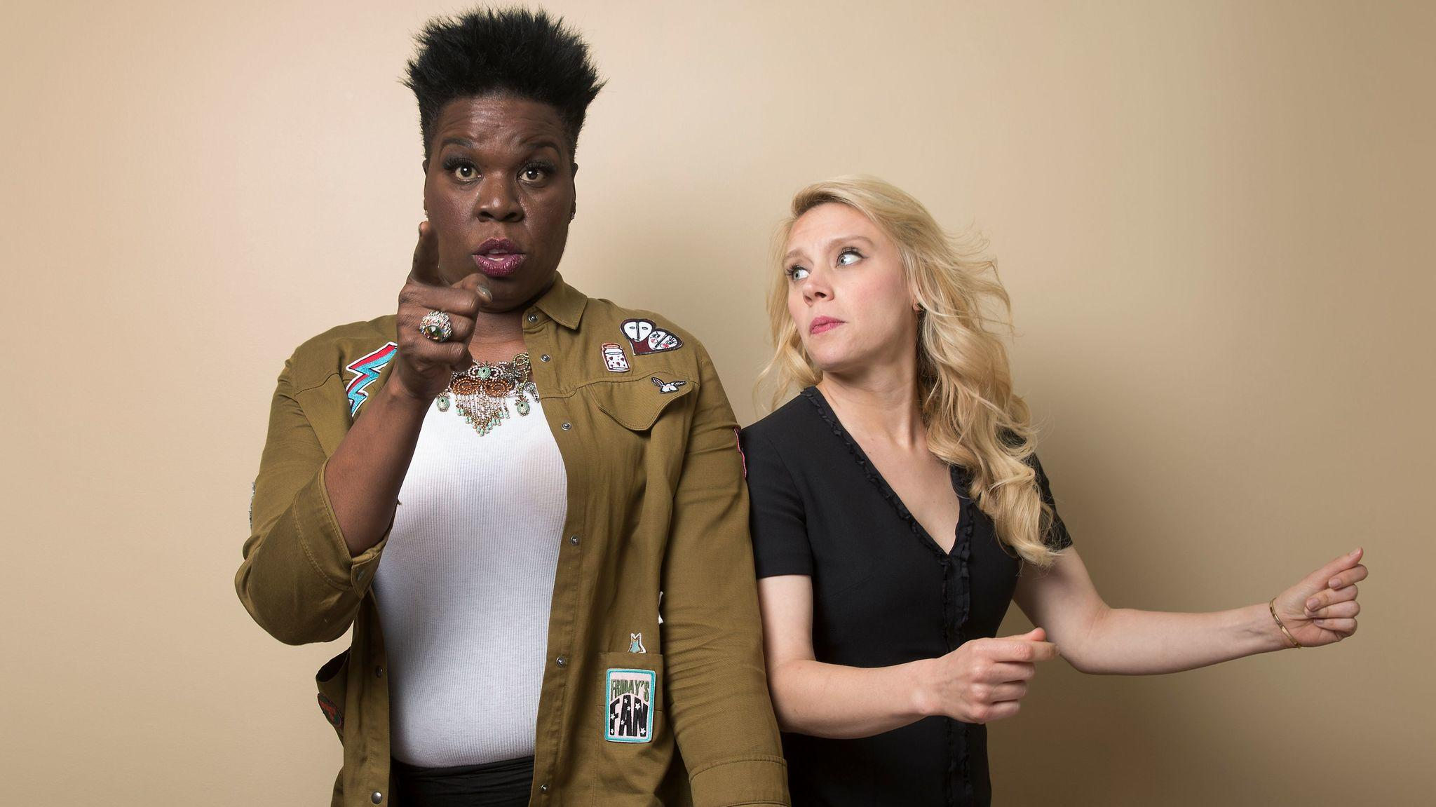 "Leslie Jones, left, and Kate McKinnon both nabbed Emmy nominations for ""Saturday Night Live"" Thursday morning, two of 22 total for the series. (Brian van der Brug / Los Angeles Times)"