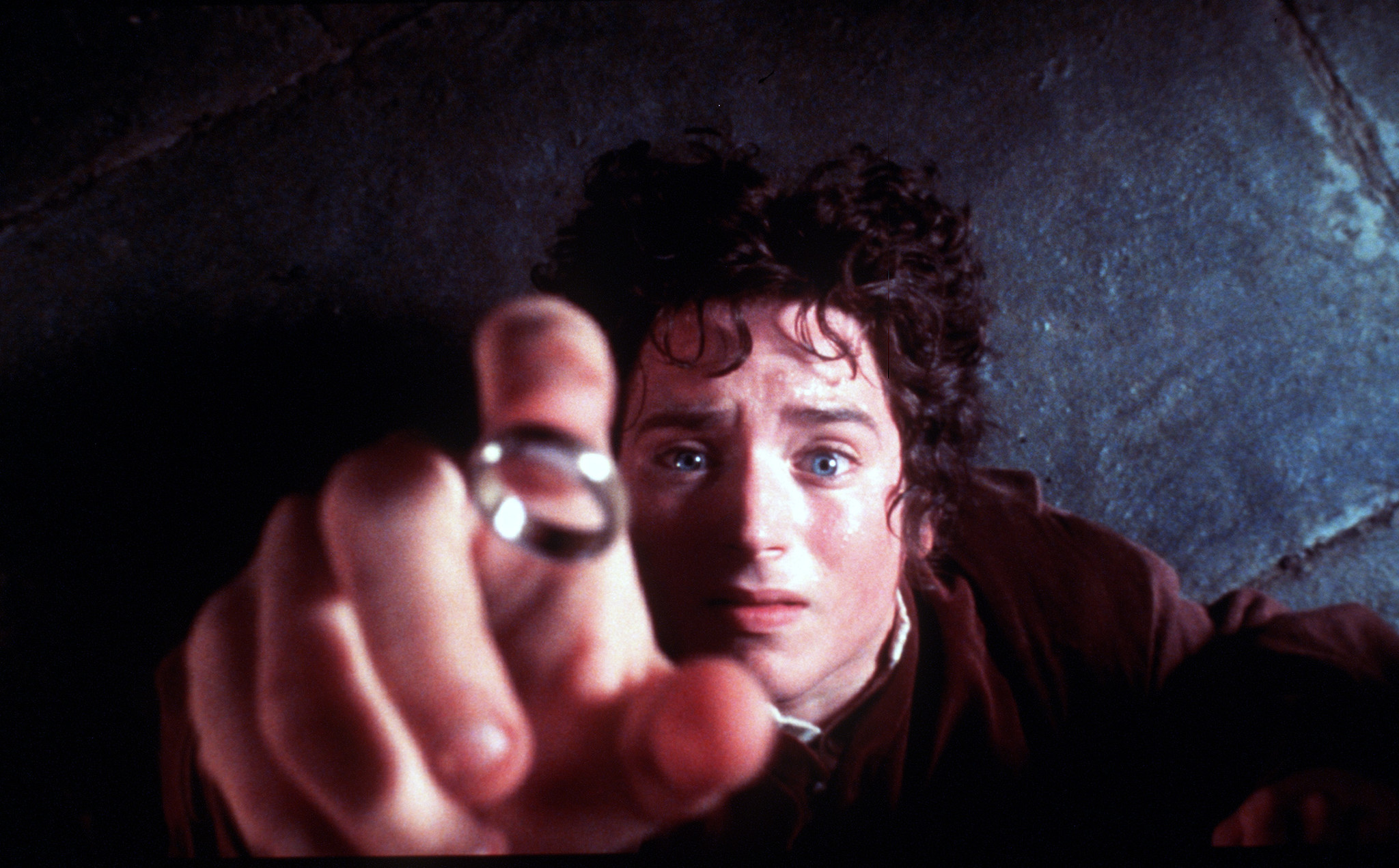 "One Ring to license them all: Elijah Wood as Frodo in ""The Lord of the Rings: The Fellowship of the Ring."" (New Line)"