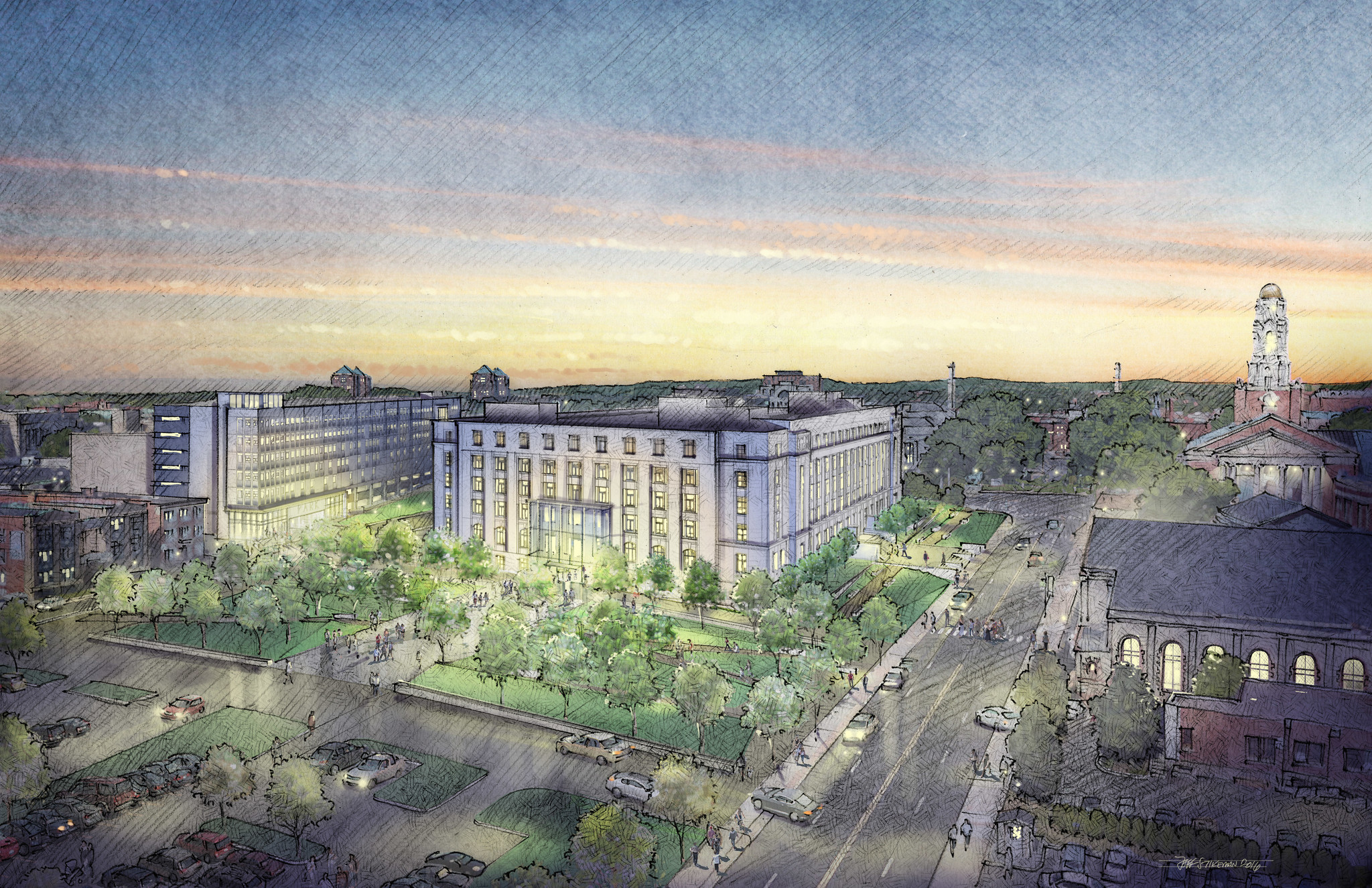 state office building renovation may spark neighborhood