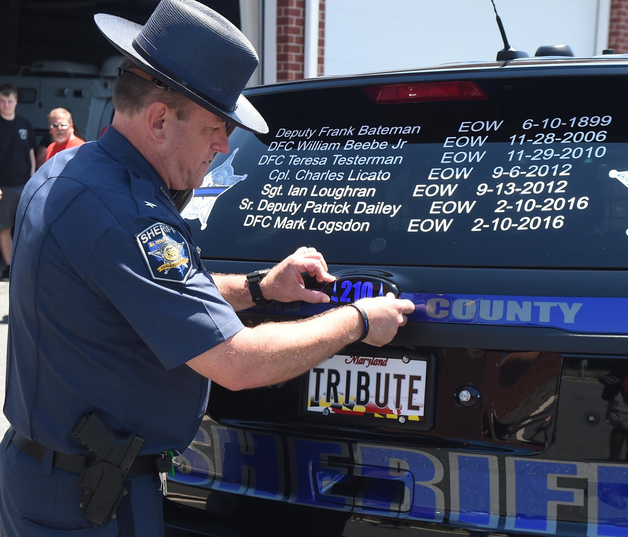 U0027Tributeu0027 Vehicle Honoring Fallen Harford Deputies Is Unveiled By Sheriffu0027s  Office   The Aegis