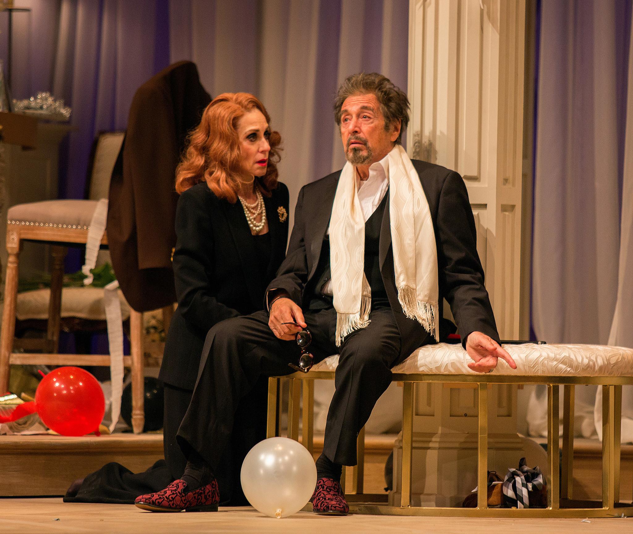 "Judith Light and Al Pacino in ""God Looked Away."""