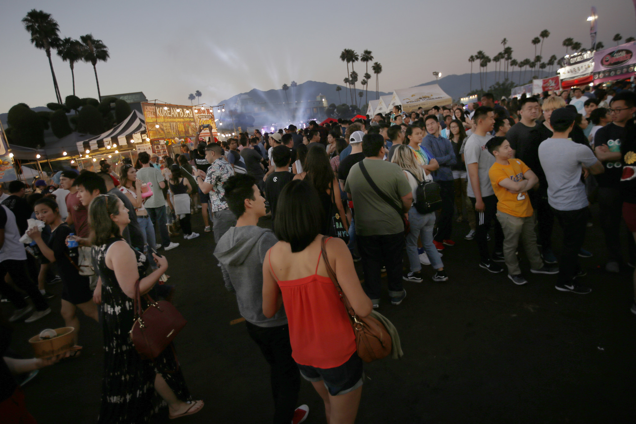 A large crowd attends the 626 Night Market in Arcadia during its opening weekend in 2017.