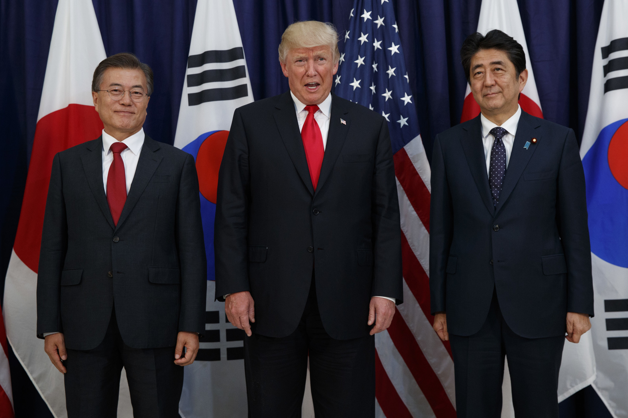 Image result for President Trump with Abe in Japan