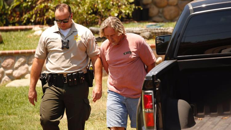 Ventura County sheriff's deputies arrest Todd Kates as authorities collect American alligators and a