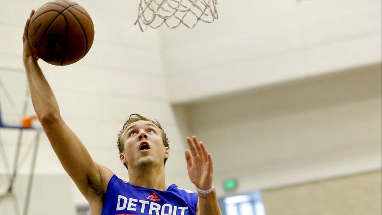 Detroit Pistons rookie Luke Kennard wasn't to fire away during Orlando Pro Summer League play.