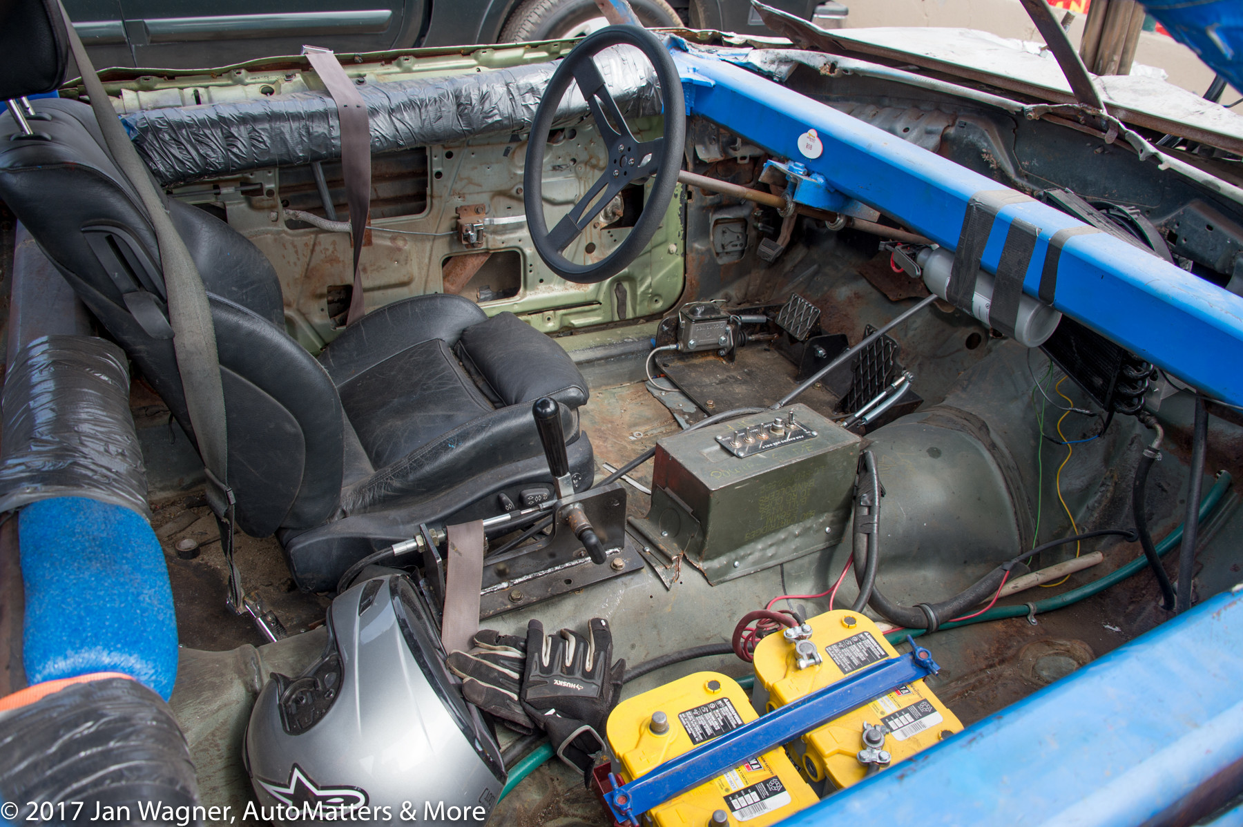 Interior of Robert Hernandez' 1972 Chevy Impala