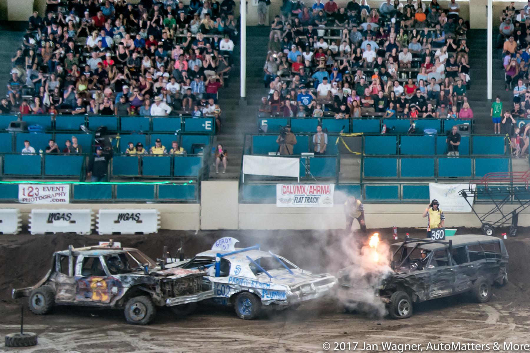 Car on fire!