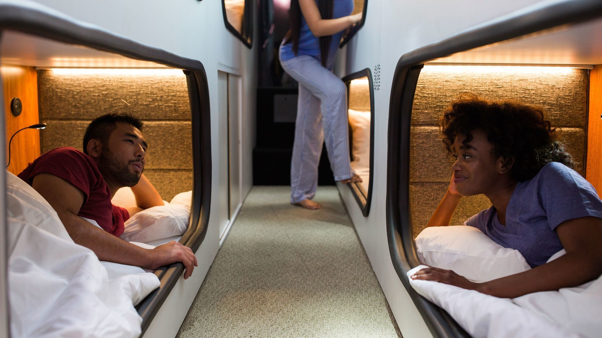 Sleep in a comfy bed from l a to san francisco on new for Cabin bus san francisco
